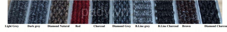Màu sắc thảm âm sàn ngăn bụi chống trượt hệ khung nhôm cao